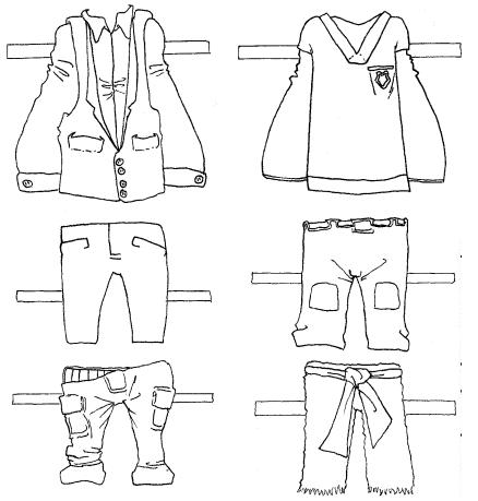 COLOREA TUS DIBUJOS: Dibujo de prendas de vestir para colorear
