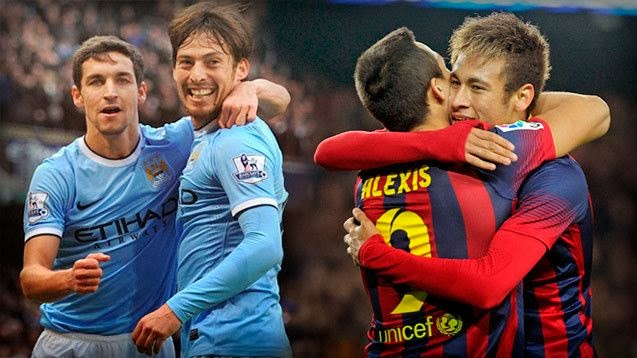 Manchester City vs Barcelona Champions League