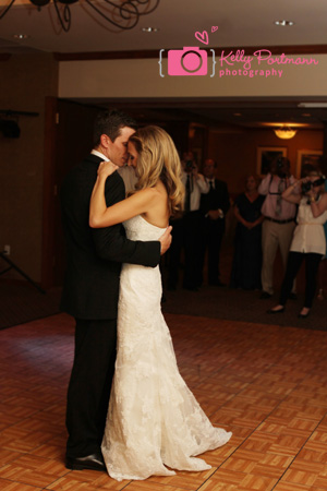Bride and Groom First Dance, Wedding Dress, Hills of Lakeway Reception