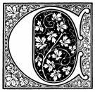 Inicial  C ornamentada de caligrafía.