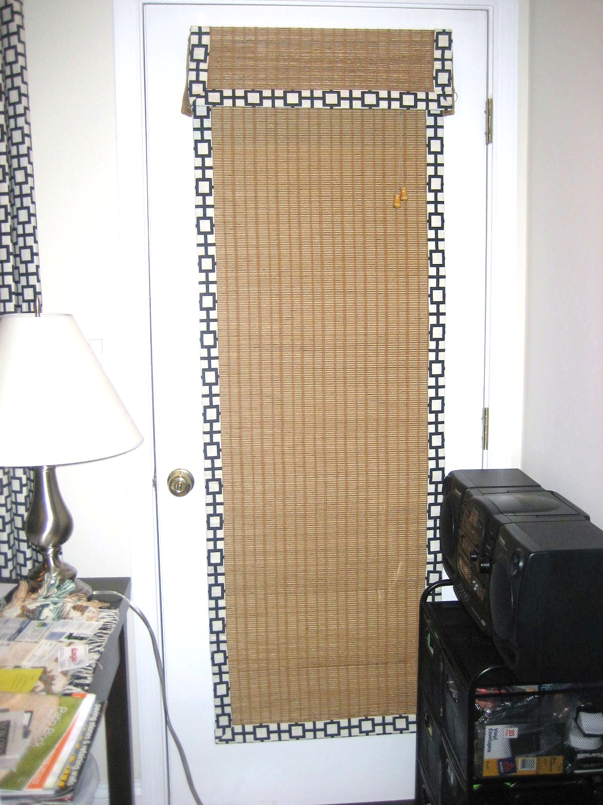 Bridging the gap between drapery panels and woven wood blindes - Woven wood wall panels ...