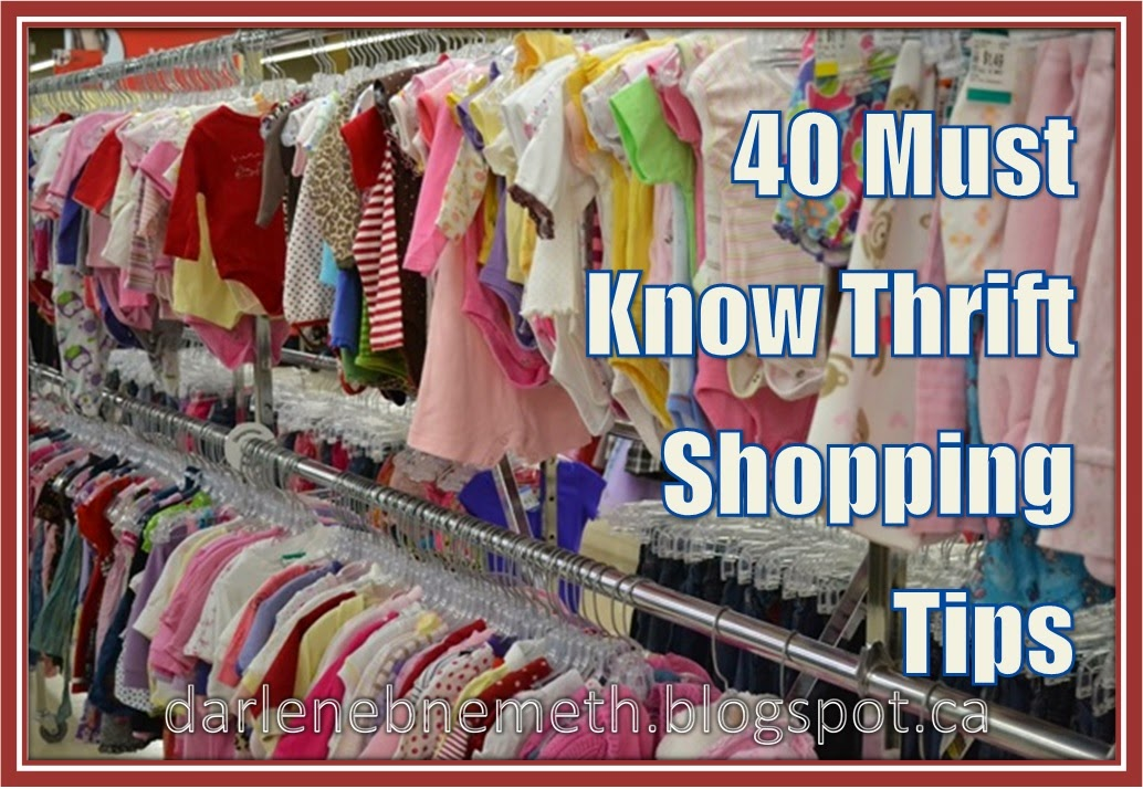 Who doesn't love to save money? 40 Must-Know Thrift Shopping Tips from Let It Shine