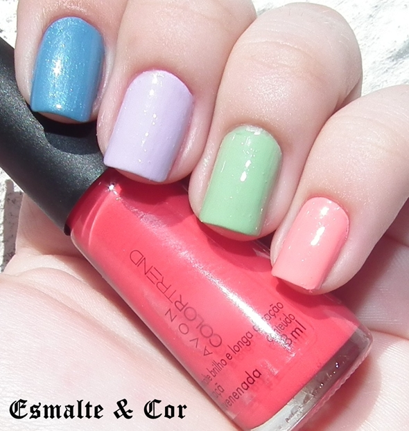 swatche-coleção-contos-de-fadas-as-avessas-avon-color-trend-cores-azul-rosa-verde-lilas-maça-nails-blog-esmalte-e-cor