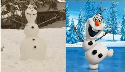 So Sweet, Demi Cucu Seorang Kakek Buat Karakter Frozen Raksasa dari Salju