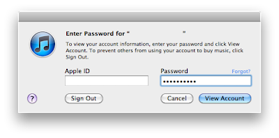 Then enter your password again, and then click on view account.