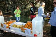 El tercer avituallament amb aigua, mandarines i plàtans