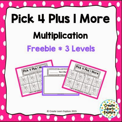 http://www.teacherspayteachers.com/Product/Multiplication-2-digit-Numbers-Pick-4-Plus-1-More-1639911