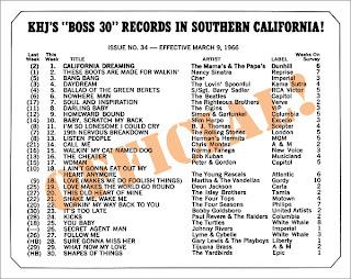 KHJ Boss 30 No. 36 - March 9, 1966