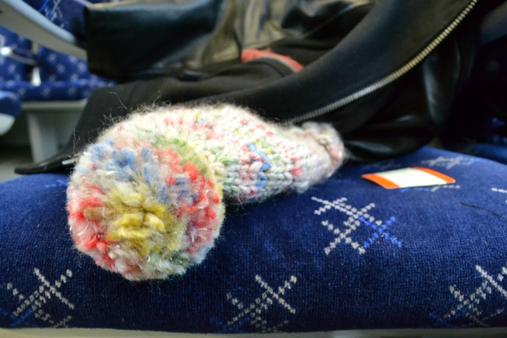 bobble hat knitted train scotrail ticket photo an hour day seat