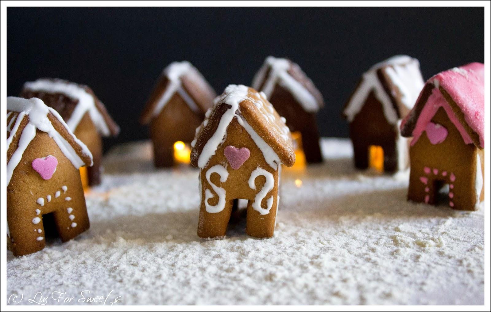 Lebkuchenhaus, Lebkuchendorf, Gingerland, Rezept, Thermomix, Weihnachten, Tassenkeks