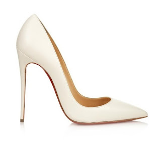 Christian Louboutin So Kate Pumps in white