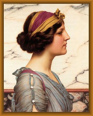 cuadro de John William Godward dama griega para scrapbooking