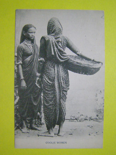 Post Card of Indian Coolie Women - British India