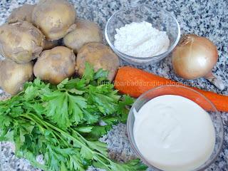 Ciulama de cartofi noi ingrediente reteta