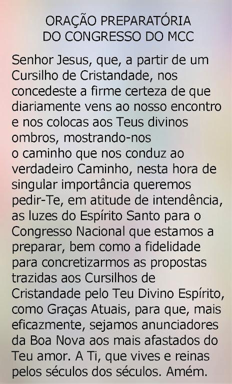 ORAÇÃO PREPARATÓRIA DO II CONGRESSO