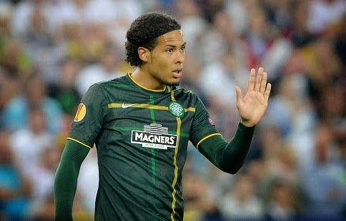 Celtic defender Virgil van Dijk denies January move