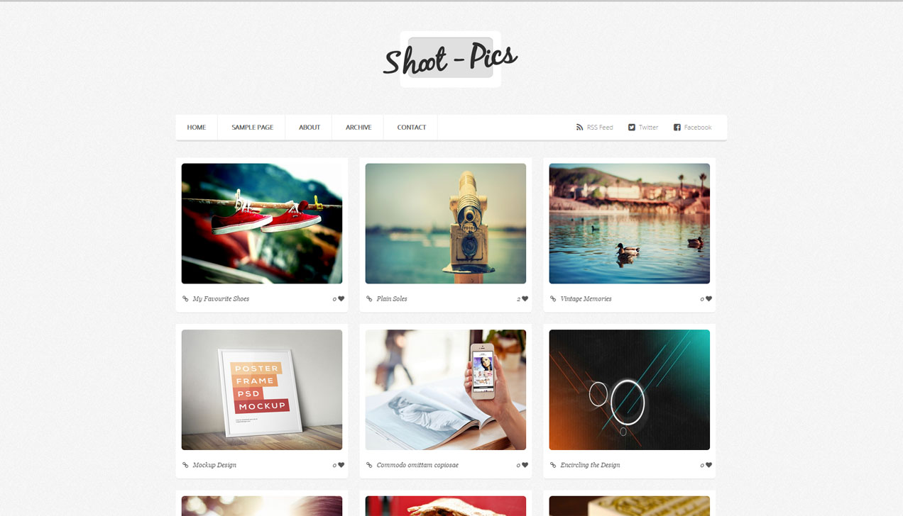 SHOOT-PICS PHOTOGRAPHY BLOGGER TEMPLATE ~ Profesyonel Blogger Temaları