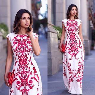Maxi vestido branco tendencia da estação 2015
