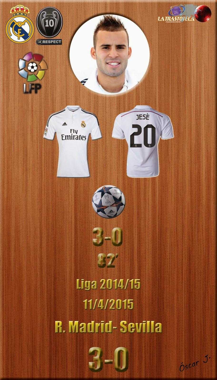 Jese (3-0) - Real Madrid 3-0 Eibar - Liga 2014/15 - Jornada 31 - (11/4/2015)