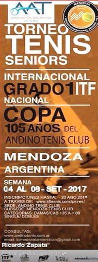 ITF SENIORS G1 COPA ANDINO TENIS CLUB 105 AÑOS- 04 AL 09 DE SETIEMBRE
