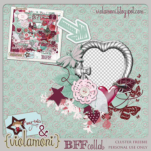"""""""Best friends forever"""" cluster freebie from ViolaMoni"""