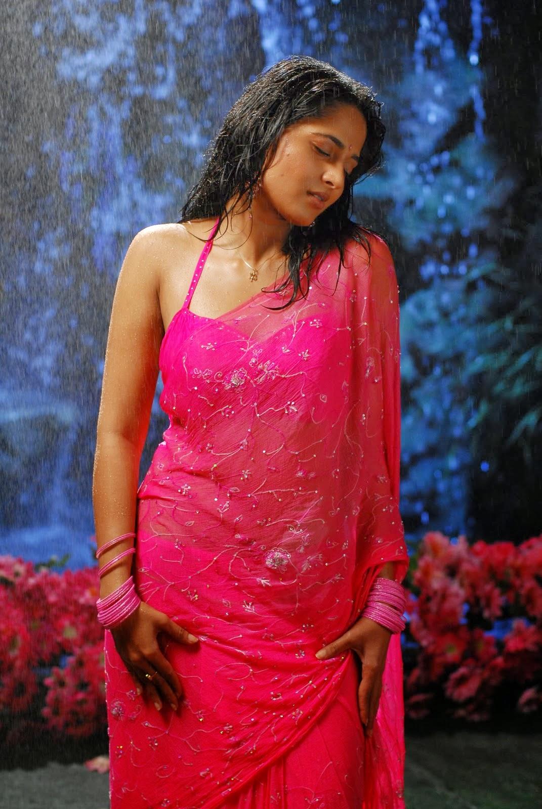 Anushka Shetty Hot Navel HD Stills In Wet Saree ~ SOUTH ACTRESS ...