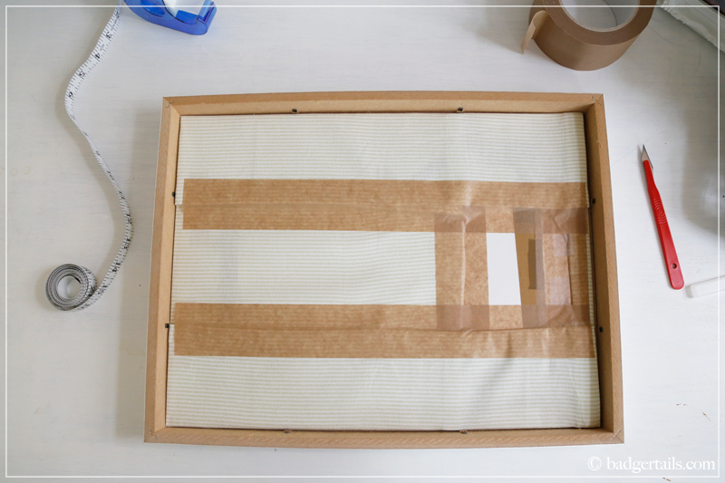 How to Frame a Tea Towel - Put the print into the frame