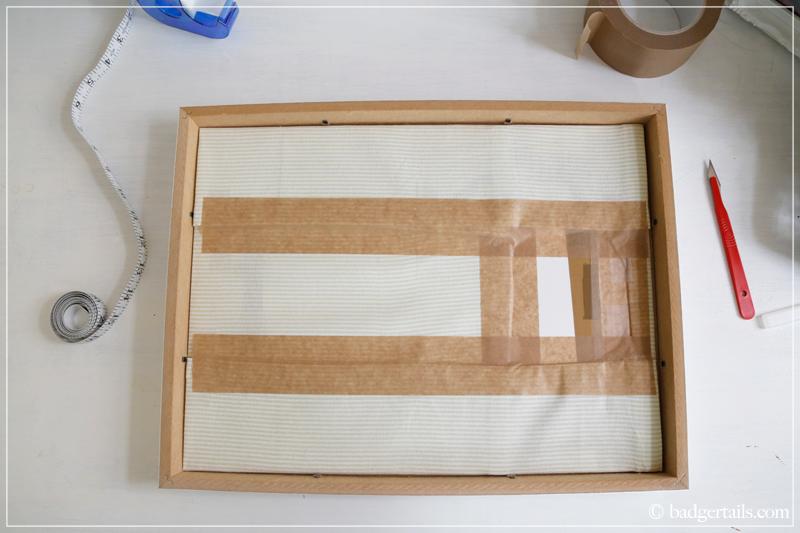 How to Frame a Tea Towel - Put the print into the frame