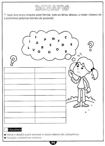 Classificação de substantivos exercícios