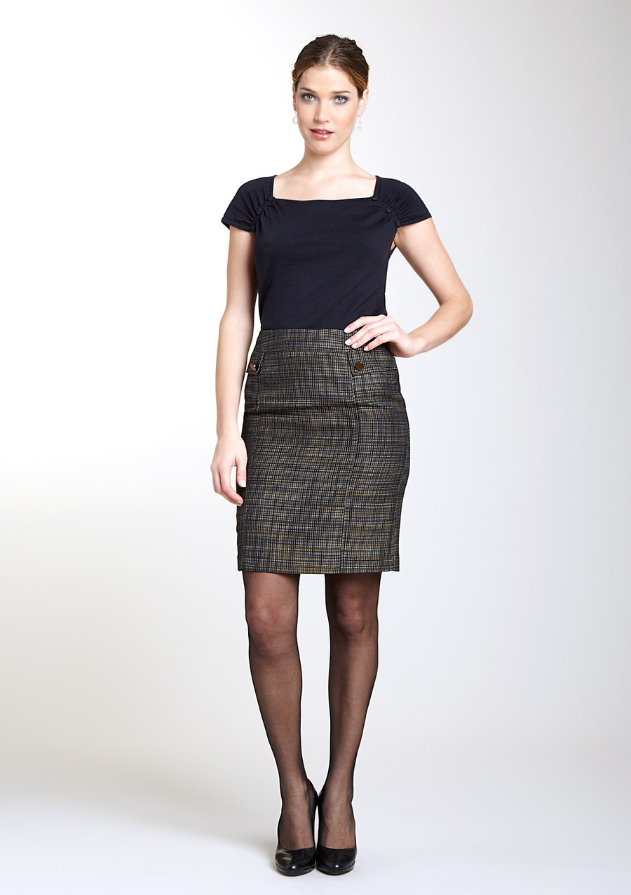 Galerry flared pencil dress