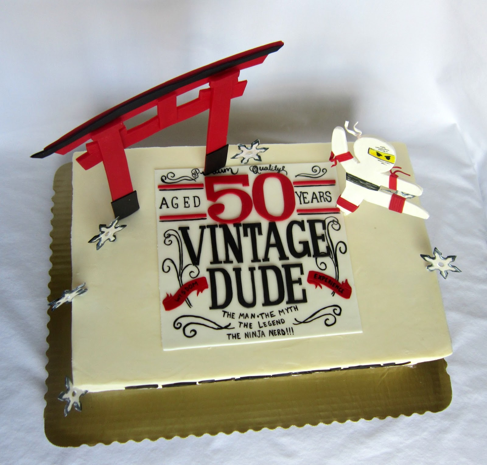 When She Saw The Vintage Dude Birthday Theme Knew That Was Answer Throw In His Love Of Ninjas And We Had A Cake