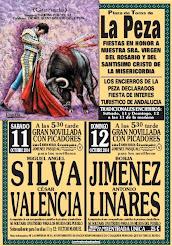 Cesar Valencia, anunciado en La Peza, Granada,  el 11/10.