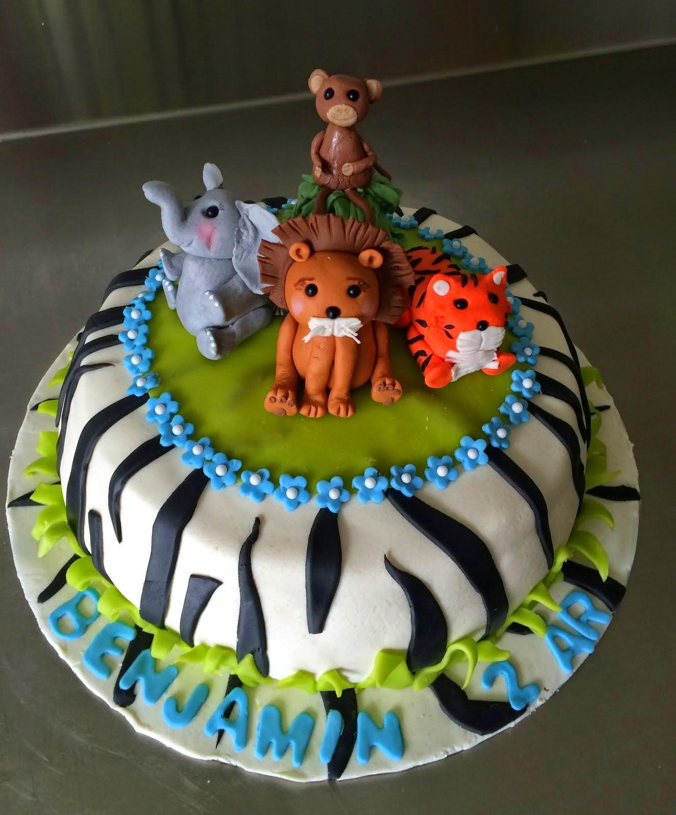 Djungeltårta med zebramönster