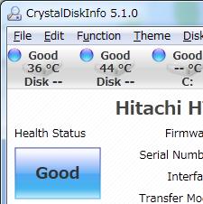 برنامج CrystalDiskInfo لمحركات الأقراص