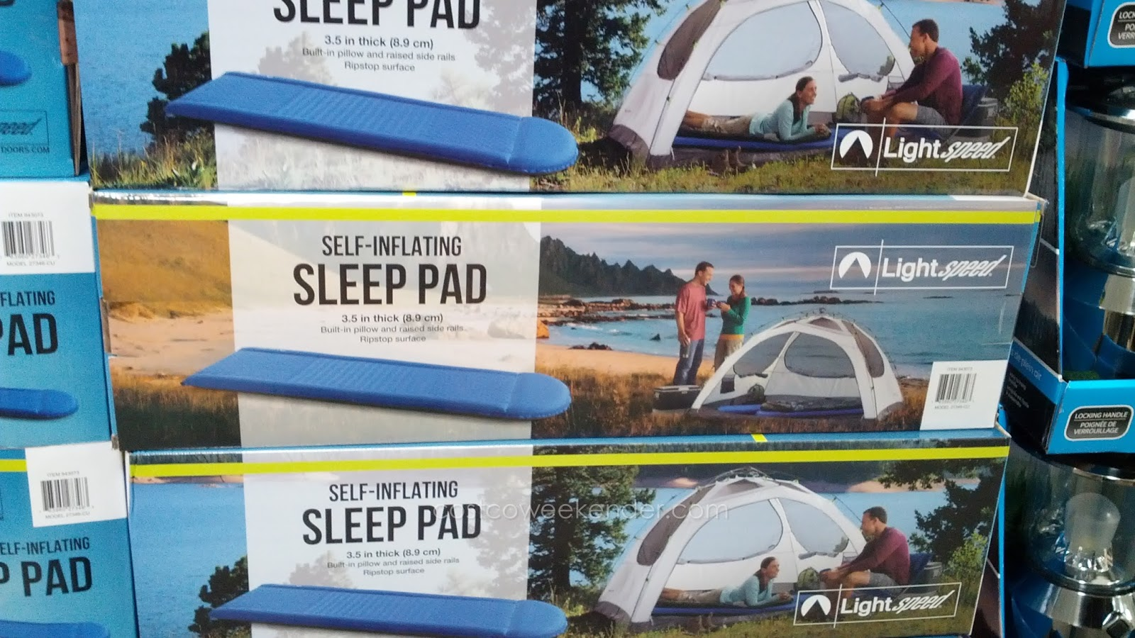 Camping bed costco - Sleep Well When Camping With The Lightspeed Outdoors Self Inflating Sleep Pad