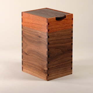 Tall Box of black walnut and mahogany