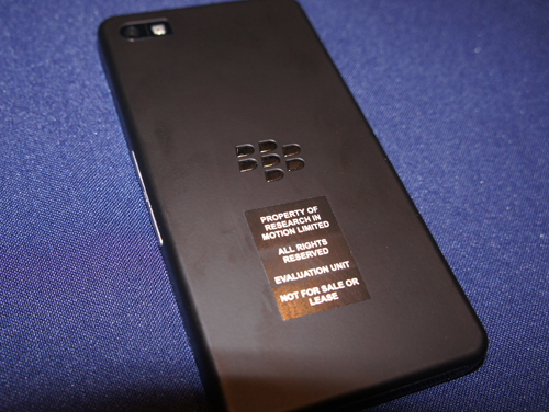Blackberry 10 Rear View