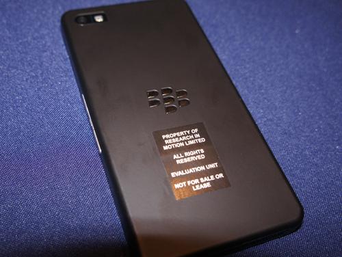 Blackberry 10 Rear View