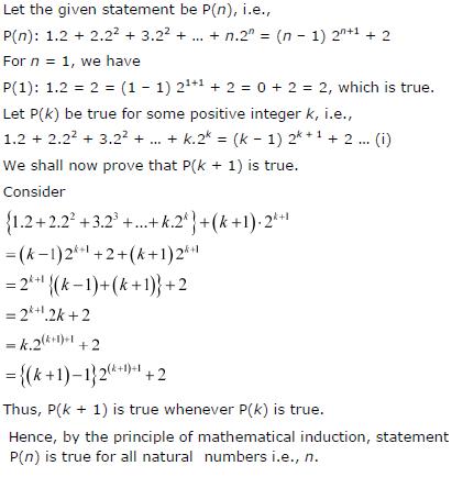 1.2 + 2.22 + 3.22 + ...+n.2n = (n-1) 2n + 1 + 2.