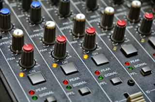 Audio Visual mixing board