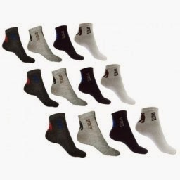 Ordervenue : 12 Pairs Of Men Ankled Cotton Socks at Rs.199 : Buy To Earn