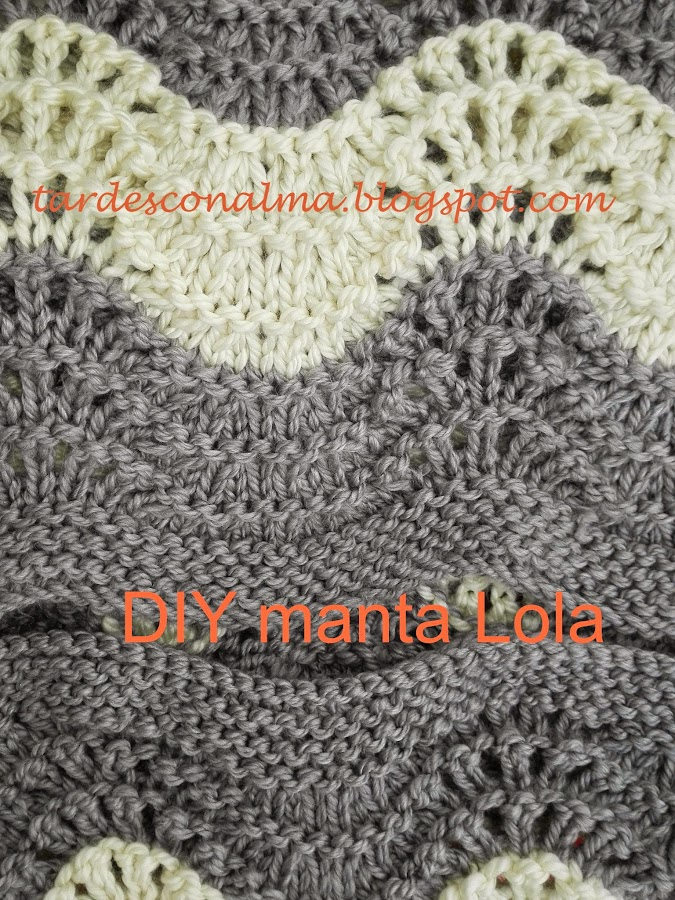 Manta lana - Mantas de punto hechas a mano ...