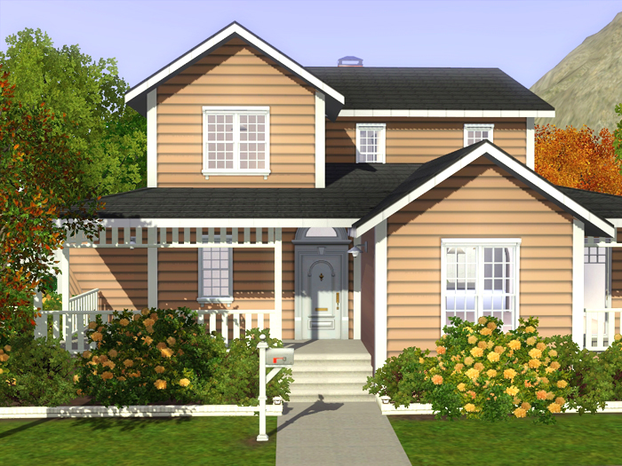 Freebird sims 3 lot family house 01 for House for two families