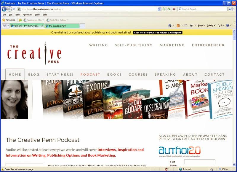 Podcast om skrivande, författeri: The Creative Penn med Joanne Penn