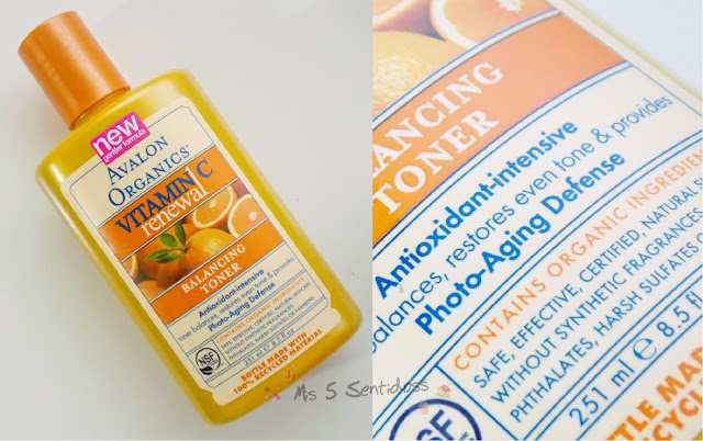 Iherb Avalon Organics, Tónico con vitamina C