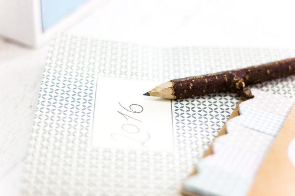 Notizen mit dem selbst gemachten Bleistift