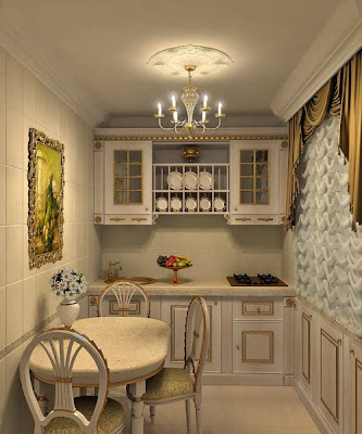 neoclassical kitchens 2015, How to make the kitchen more cozy with their own hands