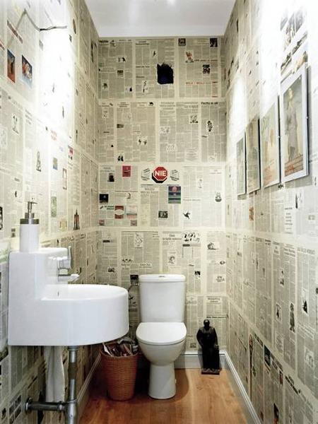 Renovar Baño Pequeno:renovar+el+cuarto+de+baño+con+periódicojpg