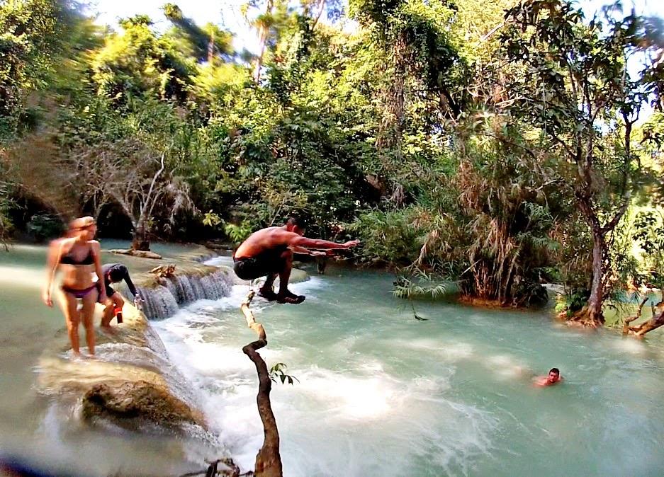 Kuang Si Water Falls Luang Prabang
