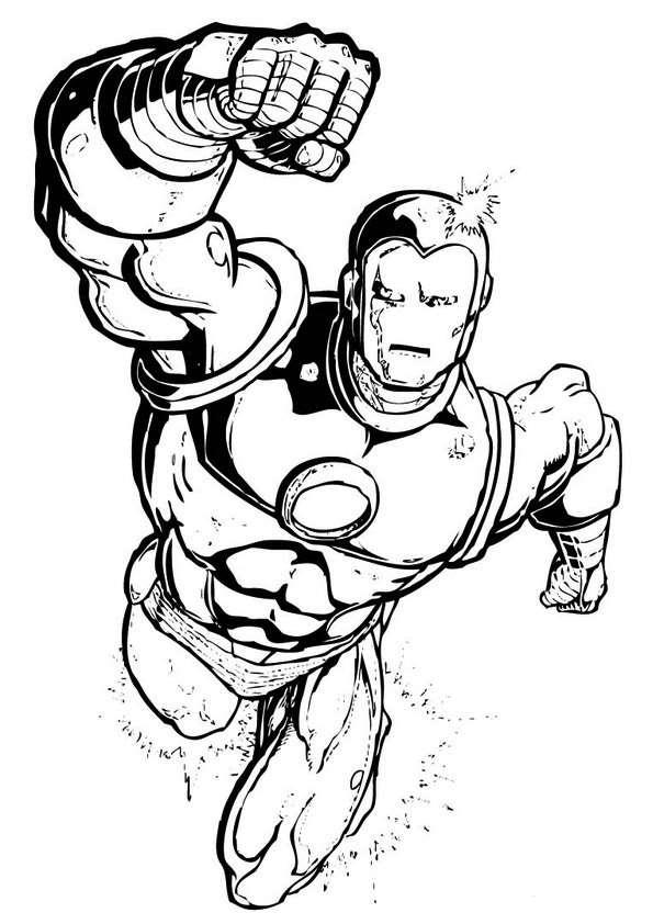 disegni da colorare supereroi iron man